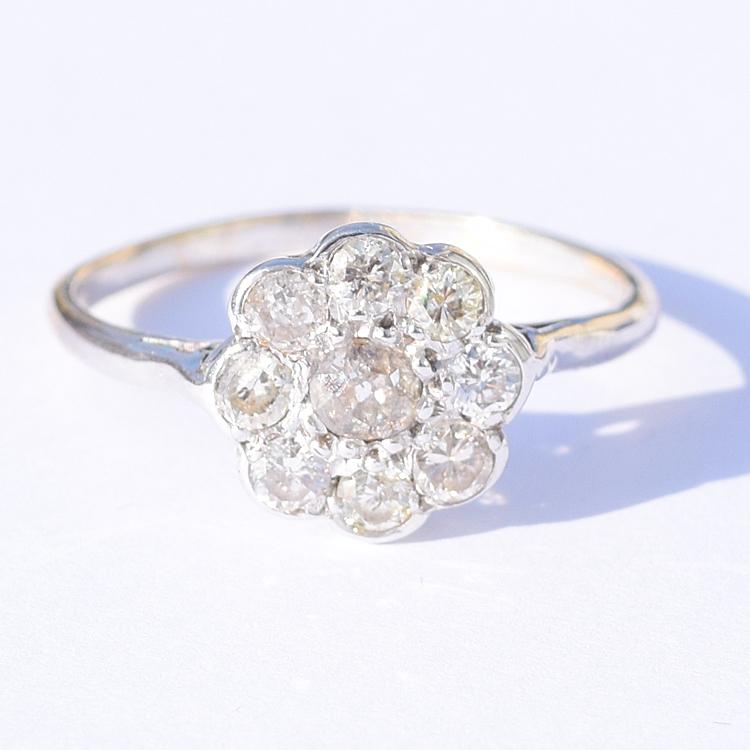 טבעת קלסטר יהלומים