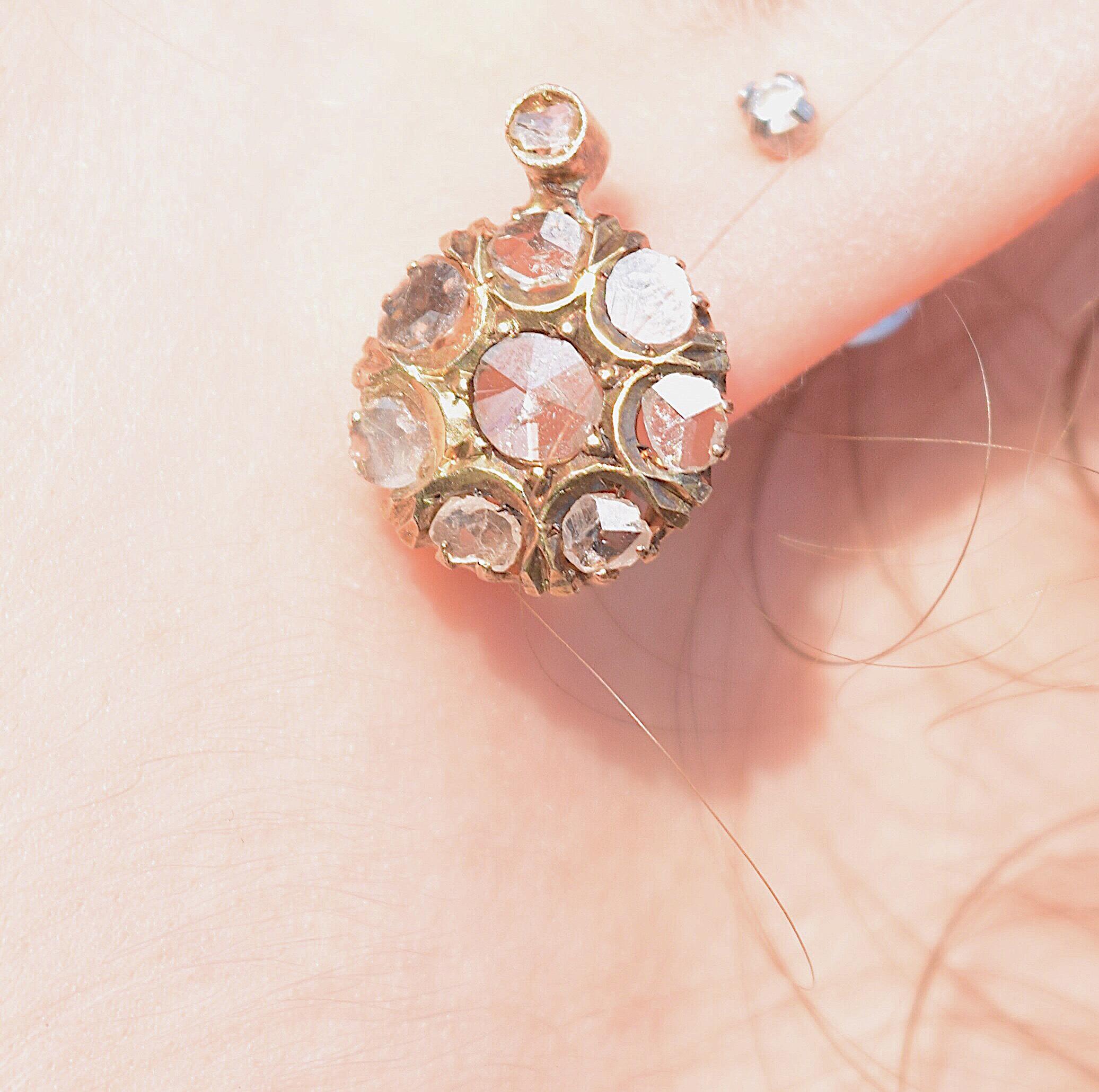 עגילי קלסטר יהלומים